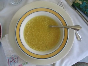 pastine italian soup 300x225 Pastine (little ball soup) aka Pastina
