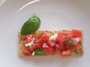 bruschetta 300x224 Feta and Tomato Bruschetta 